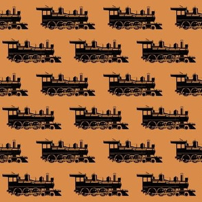 Steam Engines on Raw Sienna // Small