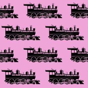 Steam Engines on Pink // Large