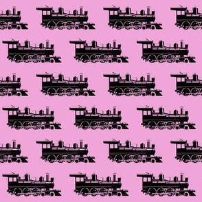 Steam Engines on Pink // Small