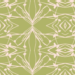 Hawkweed (Pink on Green)