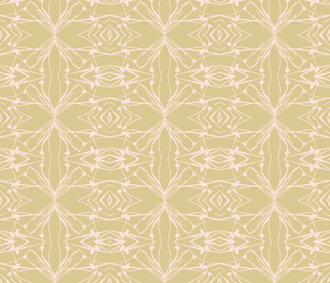 Hawkweed (Pink on Sand) fabric by belovedsycamore on Spoonflower - custom fabric