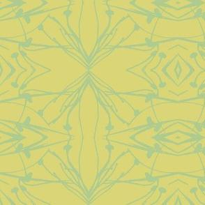 Hawkweed (Blue-green on Yellow-green)