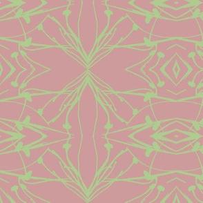 Hawkweed (Green on Mud-red)