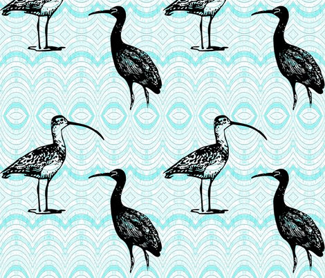 Ibis and Curlew fabric by ae_fresia on Spoonflower - custom fabric