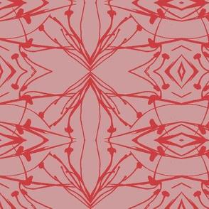 Hawkweed (Red on Mud-red)