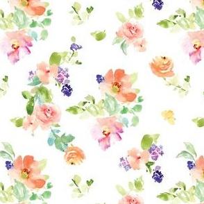 Kara Watercolor Floral Spaced