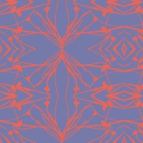 Hawkweed (Coral on Violet)