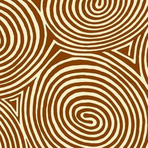 spirals-chestnut sienna
