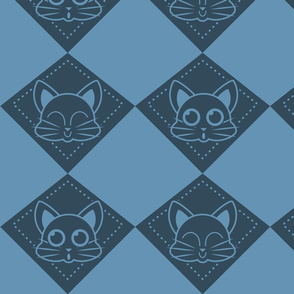 kitty draughts_blue