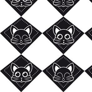 kitty draughts_b&w