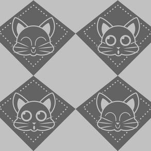 kitty draughts grey