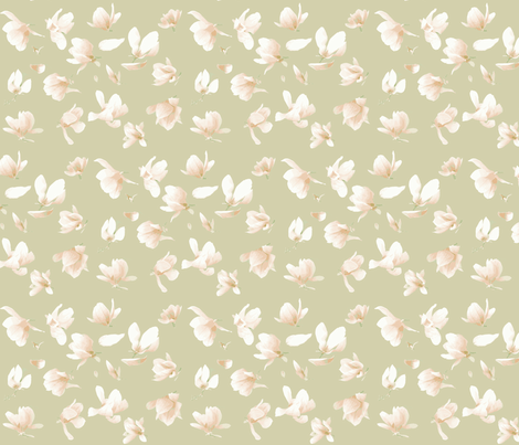 Tulip Magnolia (Ecru) fabric by belovedsycamore on Spoonflower - custom fabric