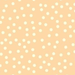 Twinkling Creamy Dots on Cantaloupe - Large Scale