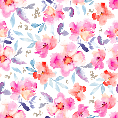 Perry Watercolour Flor fabric by angiemakes on Spoonflower - custom fabric