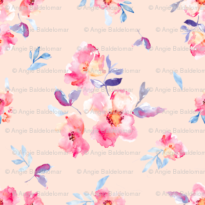 Perry Watercolour Peony Pink