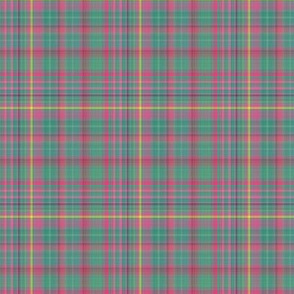 F-Pink Green Plaid