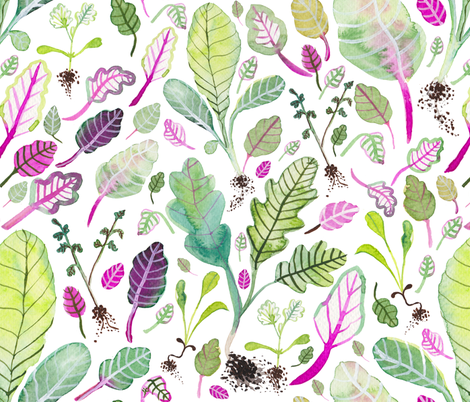 PINK CHARD fabric by katecruise on Spoonflower - custom fabric