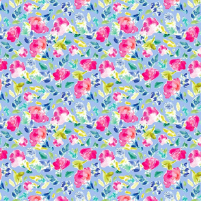Nabby Tropical Florals on Blue