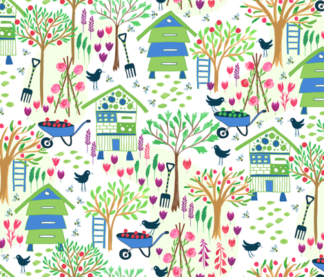 Bug Huts fabric by jill_o_connor on Spoonflower - custom fabric