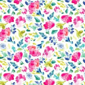 Nabby Tropical Floral on White