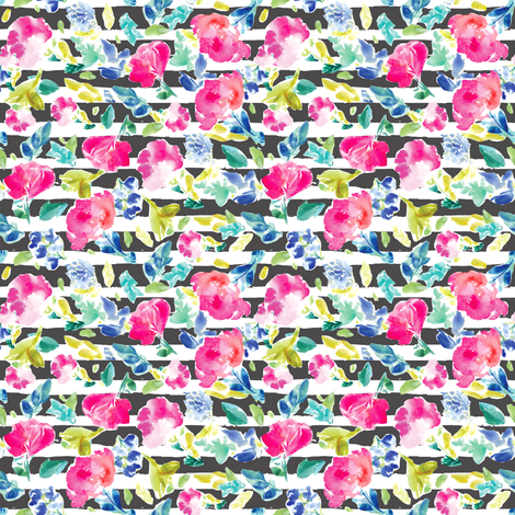 Nabby Tropical Striped fabric by angiemakes on Spoonflower - custom fabric