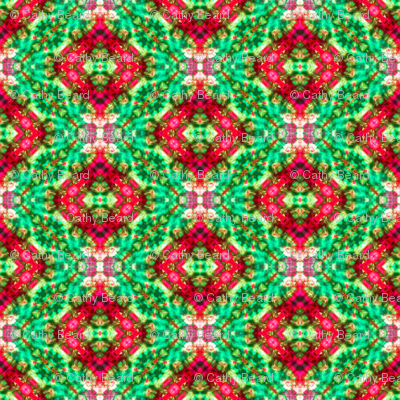 Diamond Cosmos in Green & Red