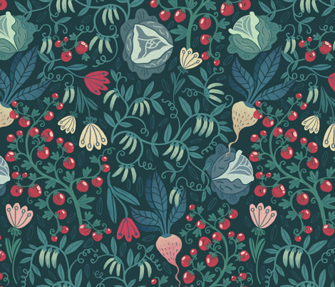 gemuse fabric by torysevas on Spoonflower - custom fabric