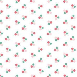 Pink and Teal Indie Dots