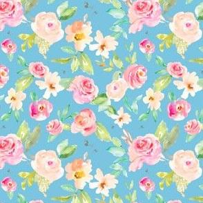 Petal Bright Blue Floral