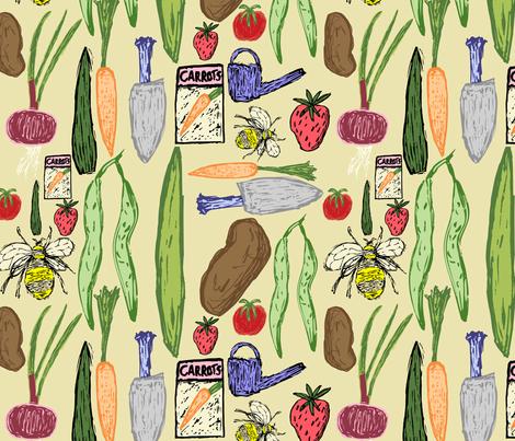 Gardening fabric by enlarsen on Spoonflower - custom fabric