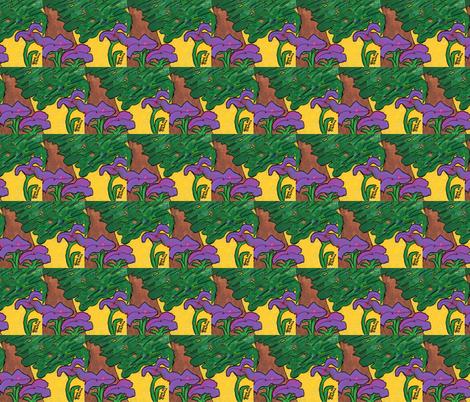 Lavender Kisses fabric by valerie_d'ortona on Spoonflower - custom fabric