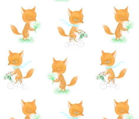 Walking fox fabric by dariara on Spoonflower - custom fabric