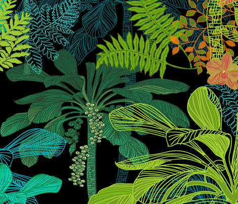 Backyard Gardening in the Tropics fabric by honoluludesign on Spoonflower - custom fabric