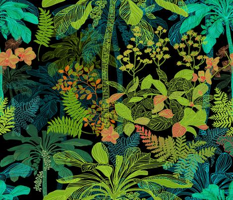 Backyard Gardening  Hawaii fabric by honoluludesign on Spoonflower - custom fabric