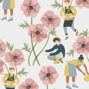 Garden of anemones