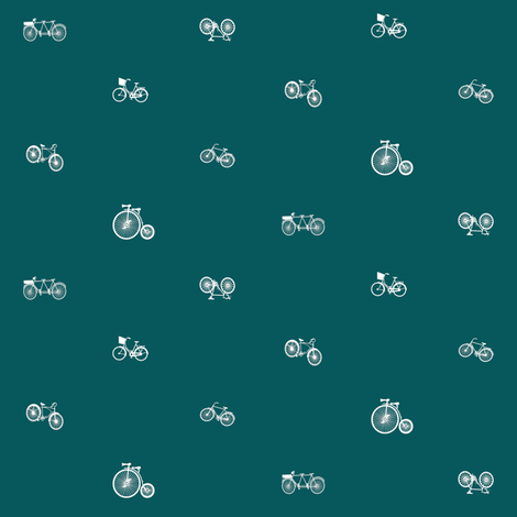 Modern Frontier Gone Cycling Ocean Green fabric by agregorydesigns on Spoonflower - custom fabric