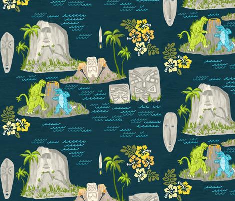 tiki geology fabric by allison_crary on Spoonflower - custom fabric