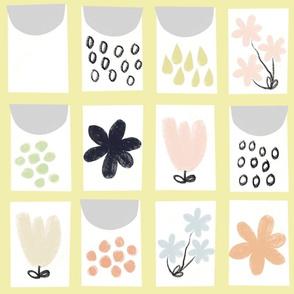 Seed packet quilt (lemon)