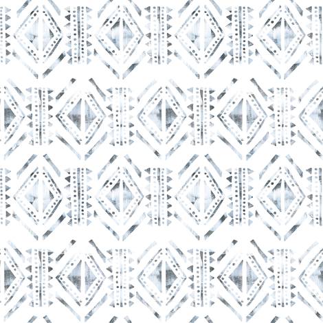 kahala pattern white horizontal fabric by schatzibrown on Spoonflower - custom fabric