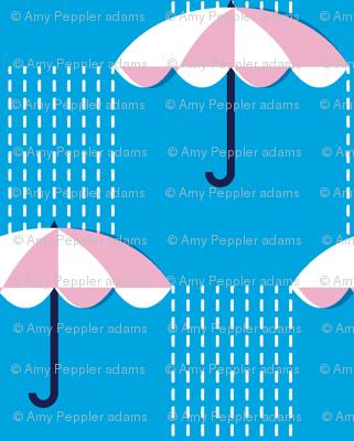 It's Raining Again* (Sky) || umbrella umbrellas spring rain spring preppy Seattle blue
