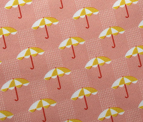 It's Raining Again* (Mona Lisa) || umbrella umbrellas spring rain spring preppy Seattle pink yellow gold