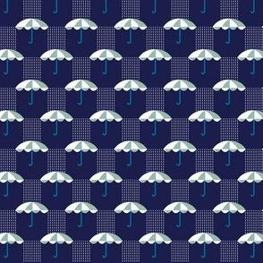 It's Raining Again* (Camouflage on Jackie Blue)    umbrella umbrellas spring rain spring preppy Seattle navy