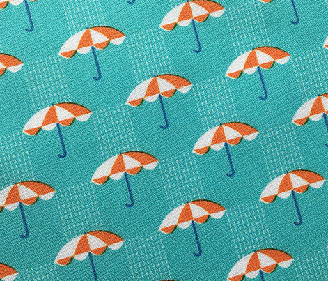 It's Raining Again* (Television Blue) || umbrella umbrellas spring rain spring preppy Seattle