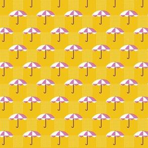 It's Raining Again* (Velvet Banana) || umbrella umbrellas spring rain spring preppy Seattle yellow gold