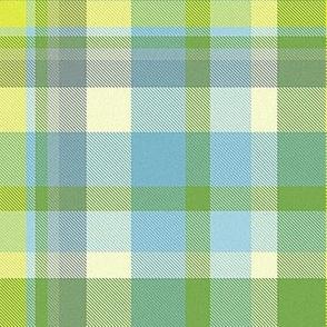 spring green plaid