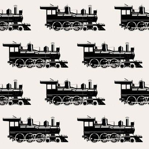 Steam Engines on Off-white // Large