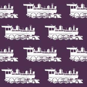 Steam Engines on Eggplant // Large