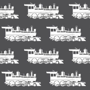 Steam Engines on Charcoal Grey // Large