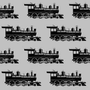 Steam Engines on Light Grey // Large