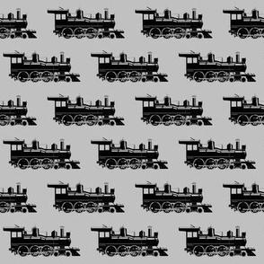 Steam Engines on Light Grey // Small